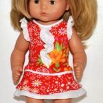 Красное платье с жабо на Лиде (Gotz Aquini)