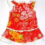 Красное платье с жабо для Gotz Aquini спинка