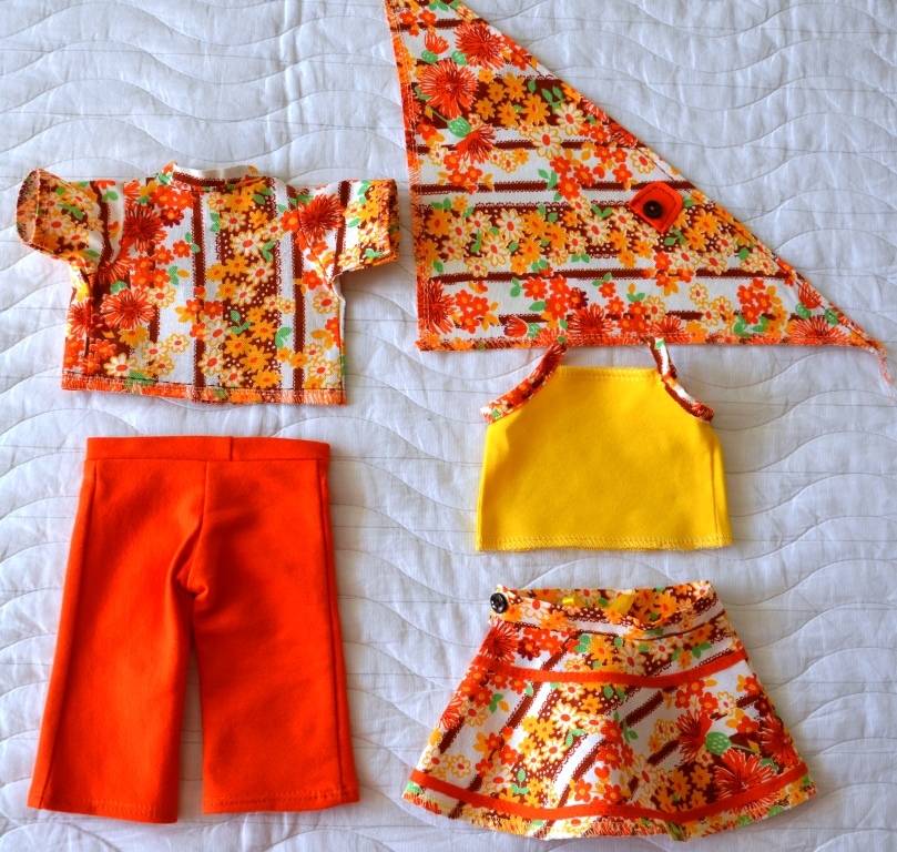 Оранжево-желтый комплект для Лиды спинка