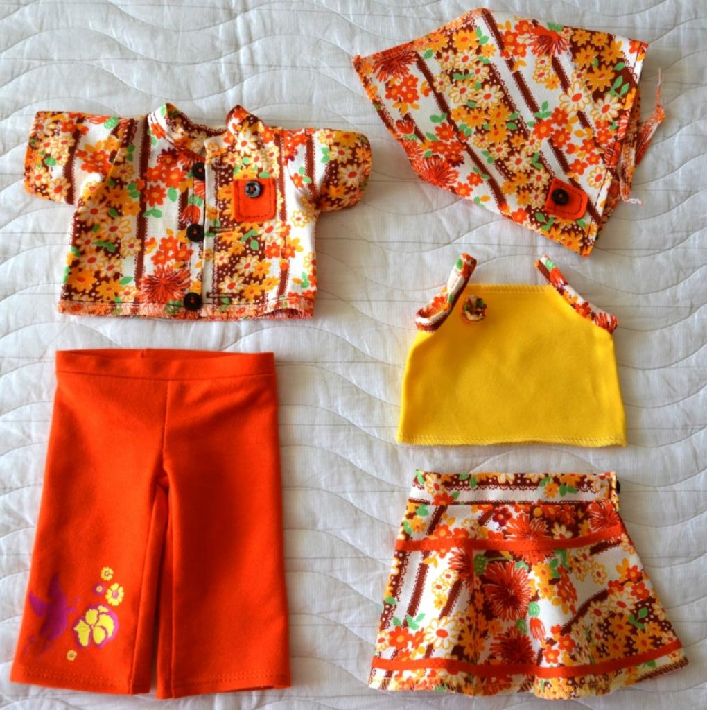 Оранжево-желтый комплект для Лиды перед