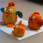 """Пластилиновая куриная семья. Слеплено по книге """"Секреты пластилина"""""""