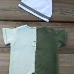 Тёмно-зеленый комбинезон для Бэльки спинка