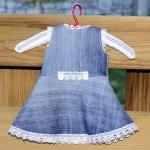 Джинсовое платье для Лиды спинка