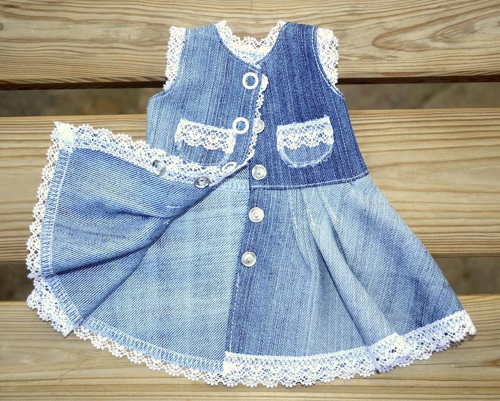 Джинсовое платье для Лиды изнанка
