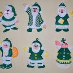 Кружевные Деды Морозы. Машинная вышивка