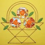 """Комплект """"Маленькая цветочница"""", аппликация. Футболка - детский ШиК №1-2013, мод. 28; юбка - Бурда №9-2012, мод. 153"""