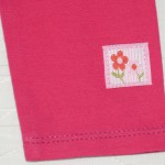 Бирочка с цветочком на лосинах. Оттобре №4-2011, мод.32