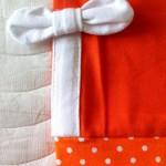 Оранжевые лосины, отделка и манжеты. Оттобре №6-2011.