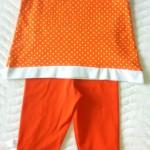 Оранжевые лосины и майка, спинка. Оттобре №6-2011 и №3-2013 соответственно.