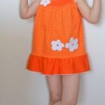 """Пляжный сарафан на доченьке. Бурда """"Детская мода"""" 2012, мод. 635"""