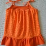"""Пляжный сарафан, спинка. Бурда """"Детская мода"""" 2012, мод. 635"""