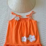 """Пляжный сарафан. Бурда """"Детская мода"""" 2012, мод. 635"""