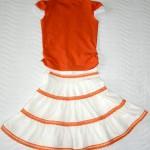 Оранжевая футболка и юбка, спинка. Футболка детский ШиК №1-2013