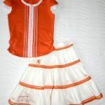 Оранжевая футболка и юбка, перед. Футболка детский ШиК №1-2013