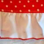 """Красное платье в горошек, волан. Бурда """"Детская мода"""" 2012, мод. 649"""