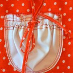 """Красное платье в горошек, кармашек. Бурда """"Детская мода"""" 2012, мод. 649"""