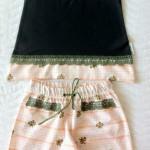 Пижама хаки, перед. Все по Оттобре: майка - №3-2013, мод. 13; штанишки - №1-2013, мод. 23
