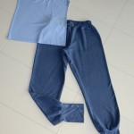 Домашние спортивные штаны (Бурда №11-2012) и футболка (Оттобре №3-2013) из футера и кулирки бамбук с\л