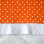 Оранжевая майка, окантовка низа. Оттобре №3-2013.