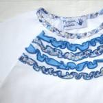 Фрагмент футболки с рюшами (Оттобре №6-2013, мод. 14)