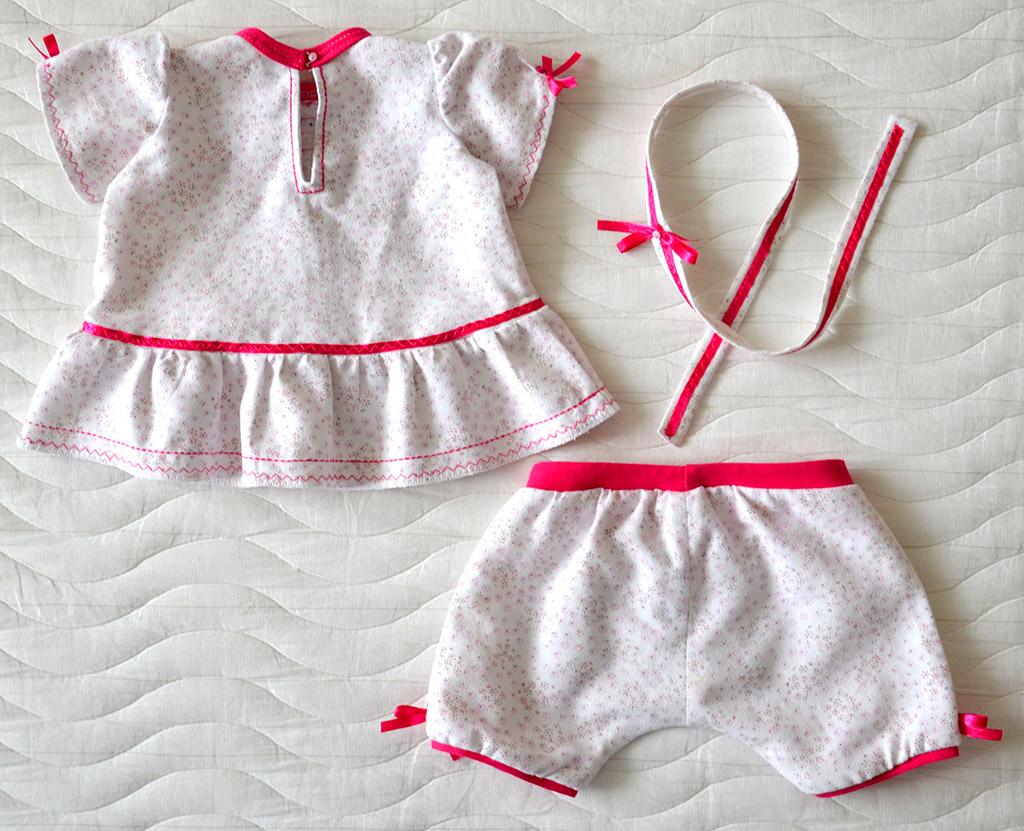 Пижамка для куклы Adora (Виолка). Окончательно дошитая, спинка.