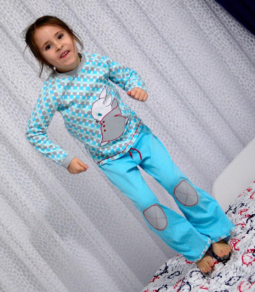 Теплая пижама для дочки. Оттобре №2-2012 (рус): мод.34 и 35.