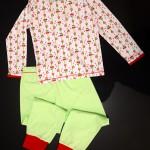 """Пижама """"Вишневое варенье"""", вид сзади. Оттобре: футболка №1-2013, мод.21; брюки №4-2013, мод.27"""