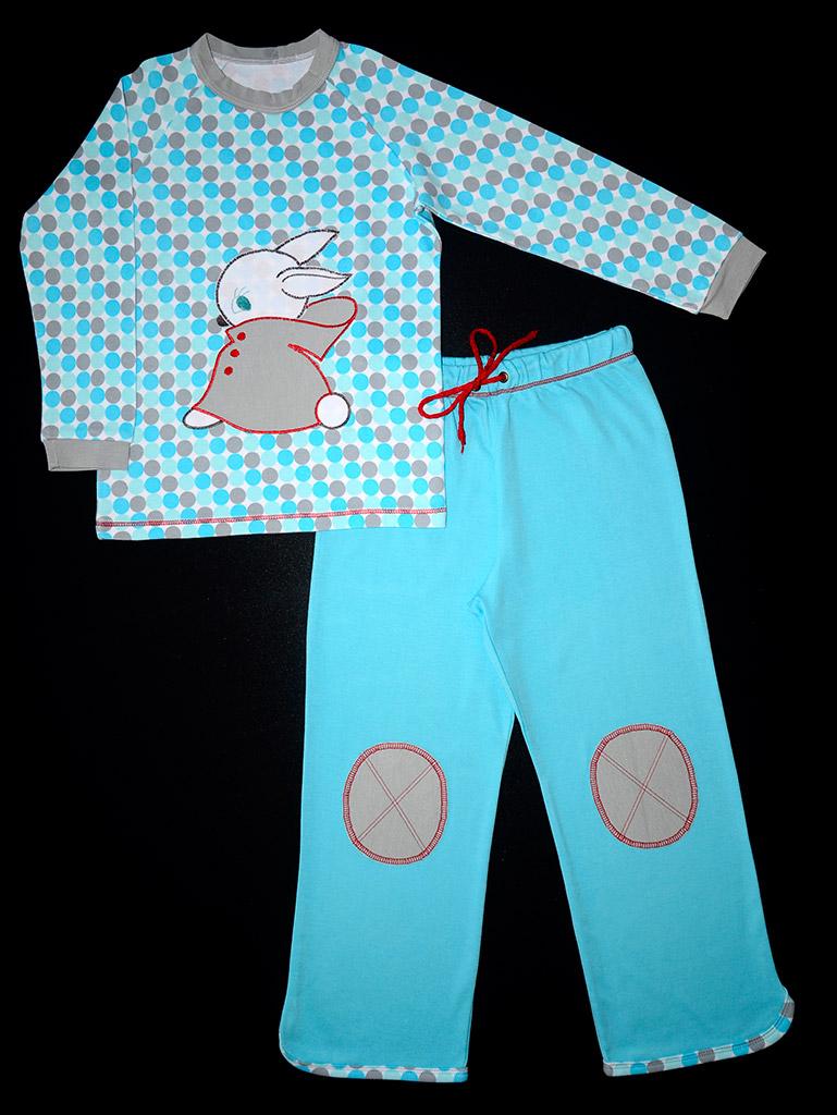 Теплая пижама для дочки, вид спереди. Оттобре №2-2012 (рус): мод.34 и 35.