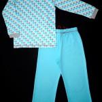 Теплая пижама для дочки, вид сзади. Оттобре №2-2012 (рус): мод.34 и 35.
