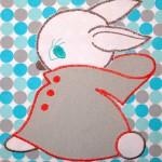 Теплая пижама для дочки, аппликация. Оттобре №2-2012 (рус): мод.34 и 35.