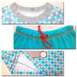Теплая пижама для дочки, детали. Оттобре №2-2012 (рус): мод.34 и 35.
