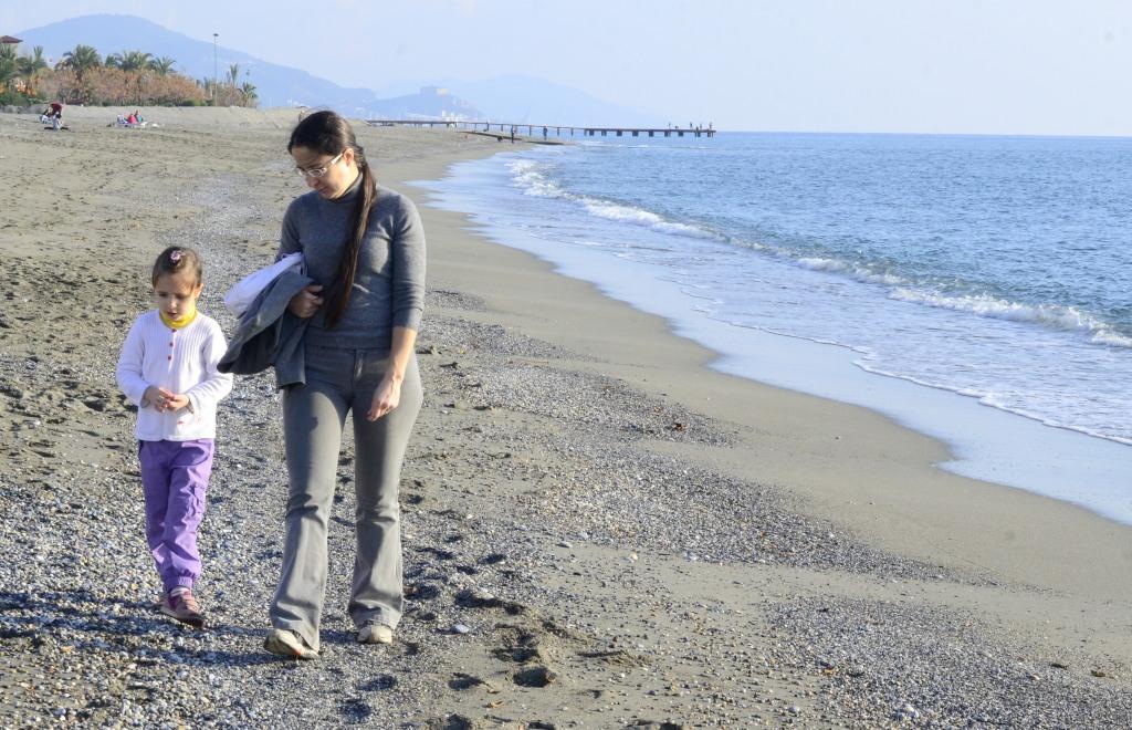 Аланья, январь. Прогулка вдоль моря