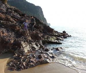 Аланья, январь. Скалы у моря