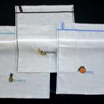 Вышитые кухонные полотенчики. Тропические фрукты
