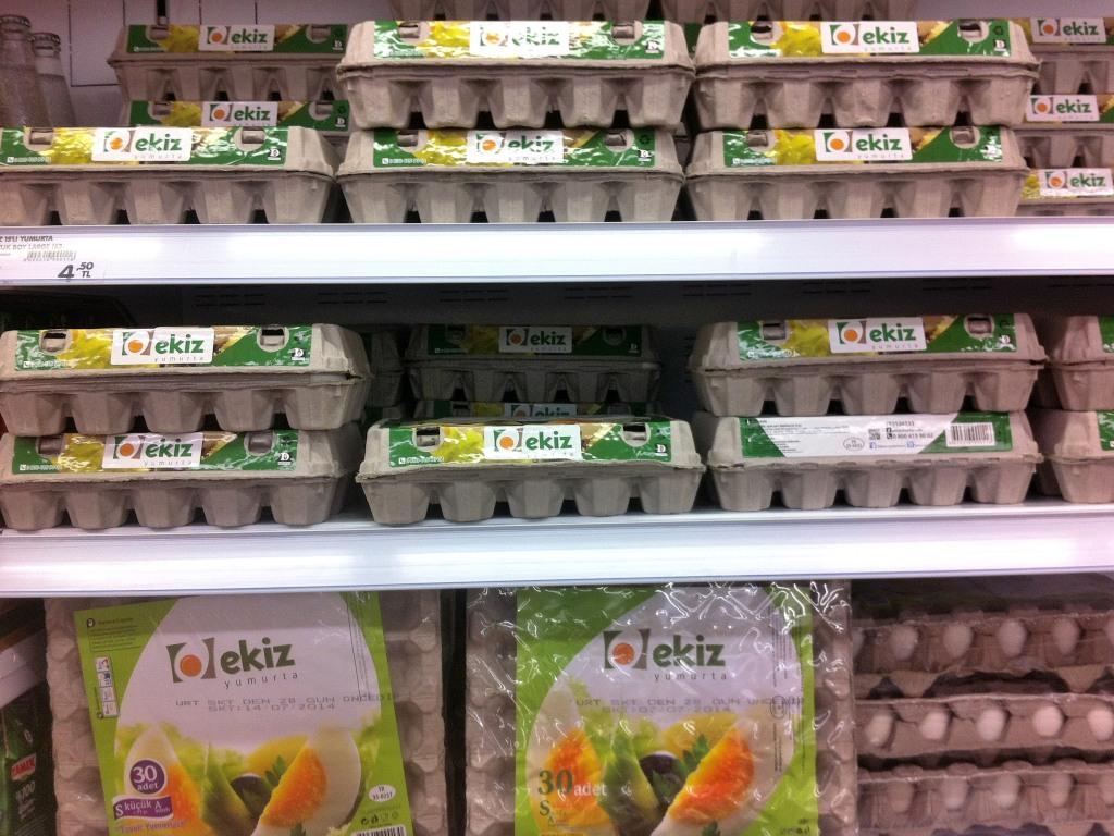 Яйца обычно расфасованы по 15 или 30 шт