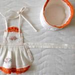 Изнанка фартучка и поварского колпака для куклы GOTZ Аквини
