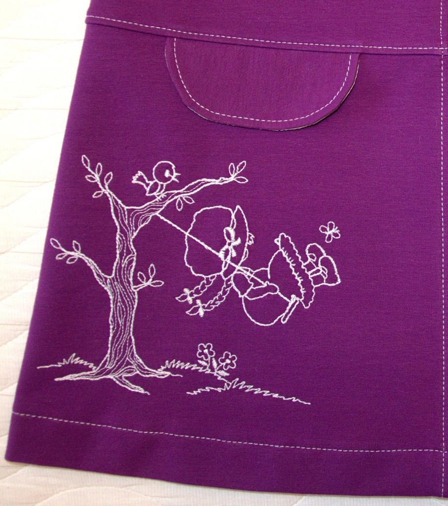 Сиреневый сарафан (Оттобре № 6-2013), вышивка