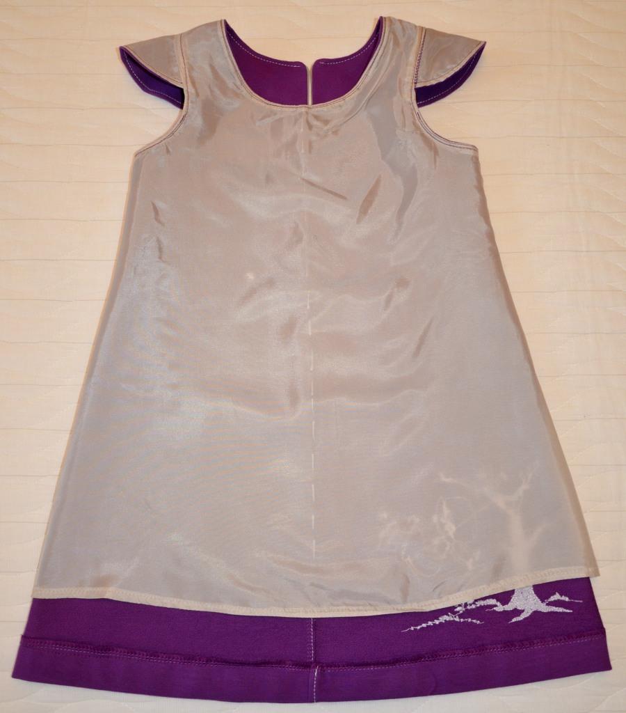 Сиреневый сарафан (Оттобре № 6-2013), подкладка перед
