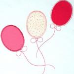 """Аппликация """"воздушные шарики"""" к пижаме для девочки"""