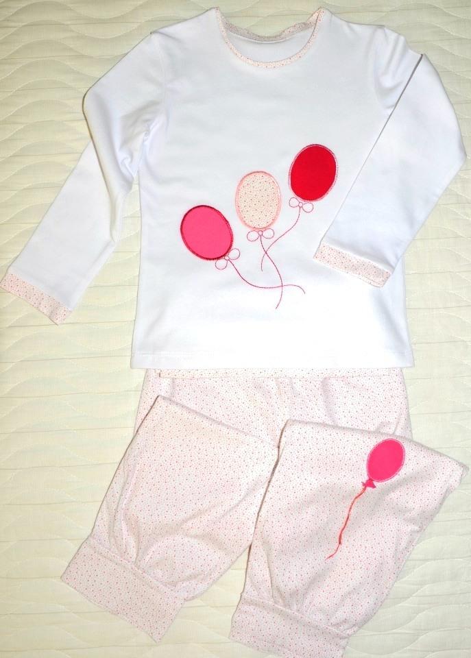 """Пижама для девочки """"воздушные сны"""" с аппликацией"""