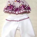 Летний комплект для куклы Готс Аквини 36 см: брюки и туника