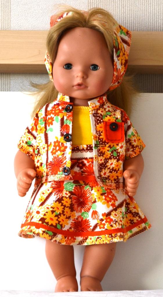 Комплект для куклы Готс Аквини 36 см: жакет, юбка и топ