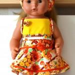 Комплект для куклы Готс Аквини 36 см: юбка и топ
