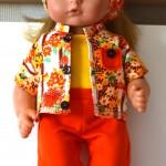 Комплект для куклы Готс Аквини 36 см: жакет, брюки, топ и косынка