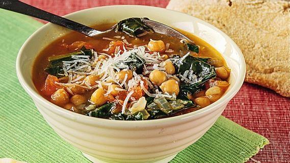 Суп с нутом и шпинатом по версии журнала