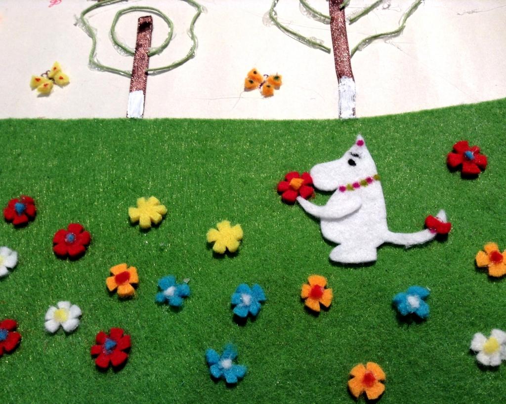 Проект Времена года, Муми-Тролль и цветы