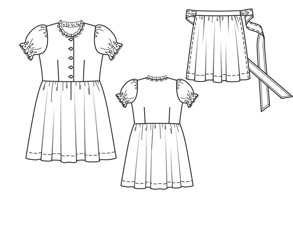 Тех. рисунок платья Минни Маус