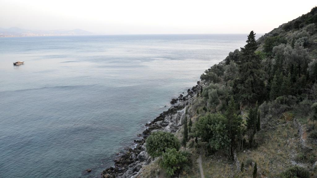 Вид на море из крепости Аланья, Турция