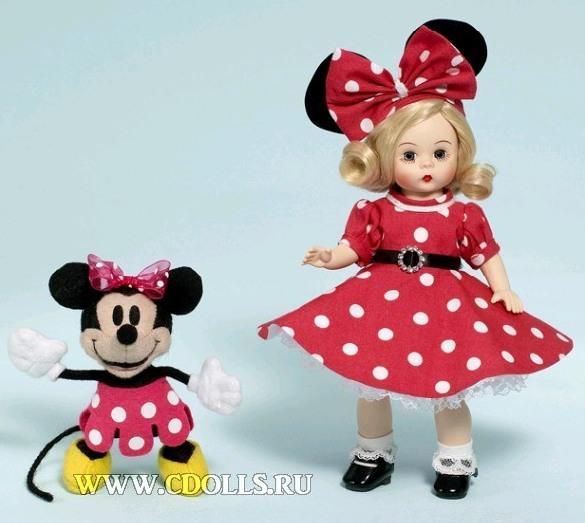 Платье Минни Маус на кукле от Мадам Александр