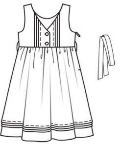 Тех рисунок платья по Бурде